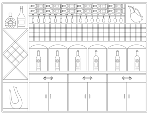 Wine Cabinet Elevation