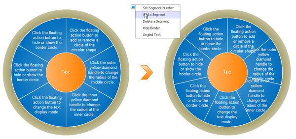 Add a segment in the Circular Diagram