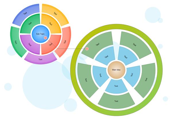 L'exemple de conception graphique circulaire