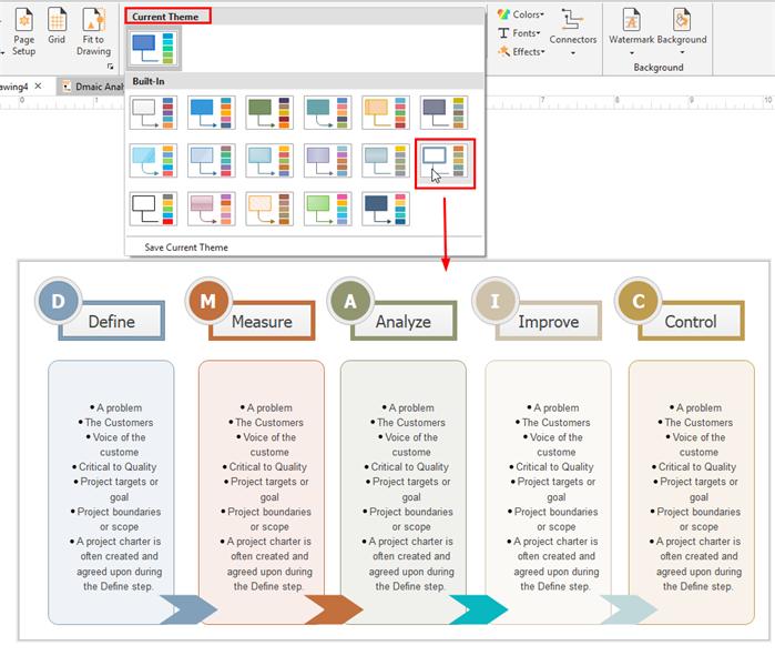 change dmaic diagram theme