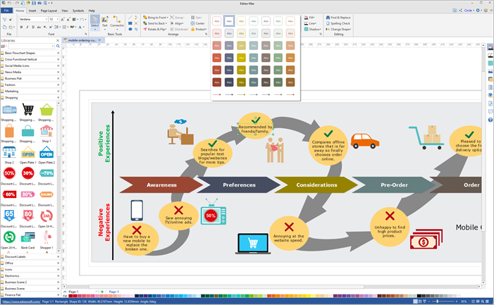 customer journey map software interface