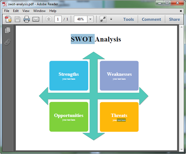 SWOT for PDF