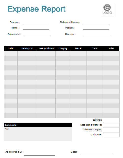 expenses forms templates - Military.bralicious.co