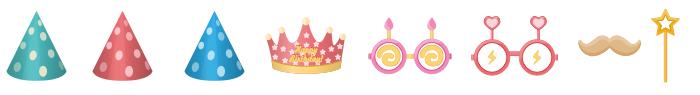 Birthday Costume Symbols