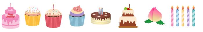 Birthday Cake Symbols
