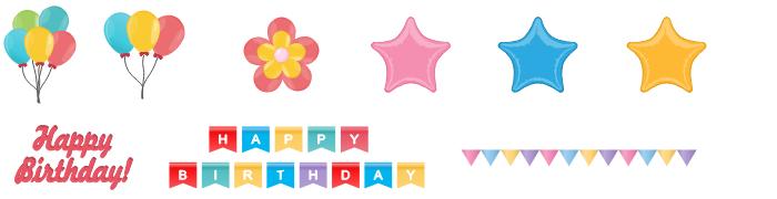 Birthday Decoration Symbols