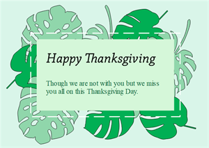 Green Leaves Thanksgiving Card