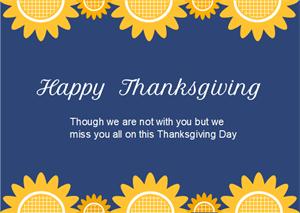 Sunflowers Thanksgiving Card