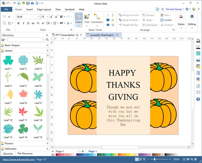 Thanksgiving Card Software
