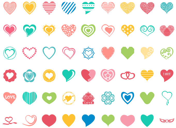 Thanksgiving Heart Shape Symbols
