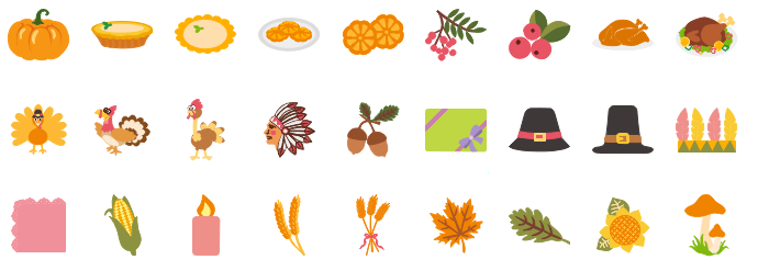 Thanksgiving Pumpkin Symbols