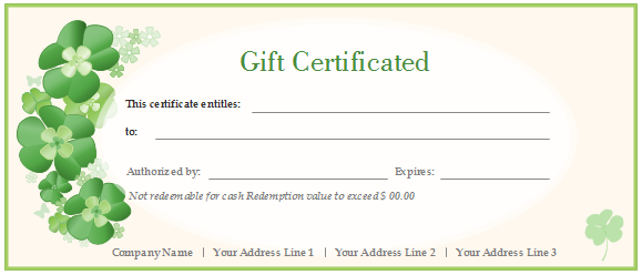 Free gift certificate templates customizable and printable gift certificate green flowers yelopaper