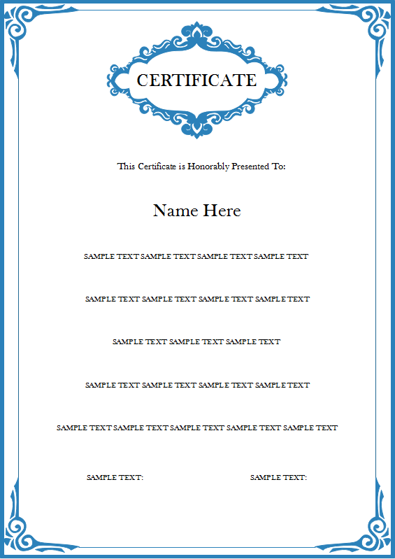 Student Certificate Templates. 1000+ Ideas About Award ...