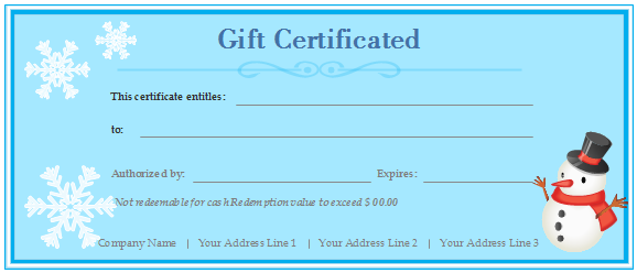 Free gift certificate templates customizable and printable gift certificate blue yadclub