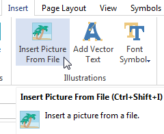 Insert Pictures for Certificate Template