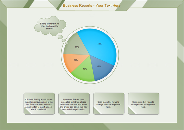 business reports pie chart