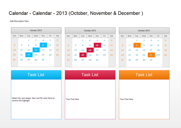 Calendar Examples - Quarter Plan