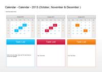 Quarter Plan Calendar