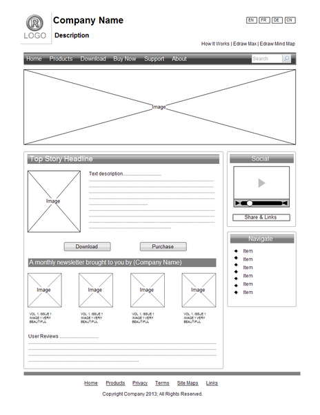 wireframe wireframe examples site design wireframe diagram at readyjetset.co