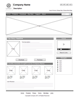 Wireframe de site Web