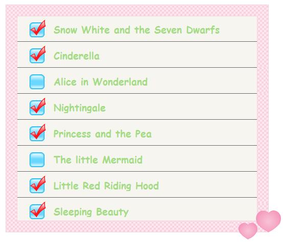 Fairy Tales Checklist