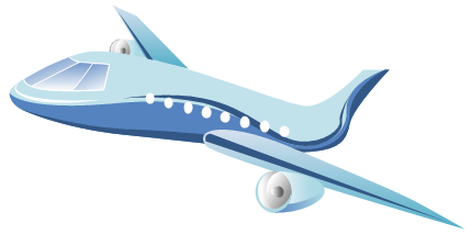 Vector Clip Art - Airplane