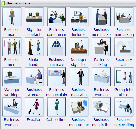 Clip Art Template - Business Scene