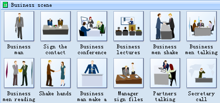 Clip Arts - Business Scene