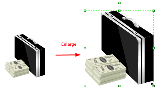 Enlarge Finance Clipart