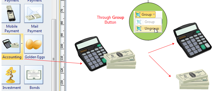 Ungroup Finance Clipart