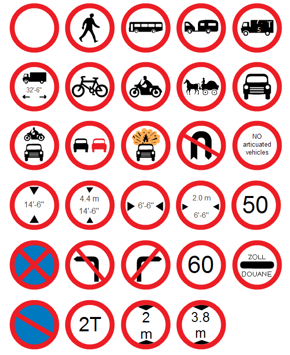 Red Circle Road Signs
