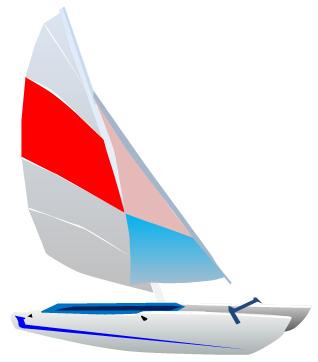 Clipart vectoriel - Bateau à voile