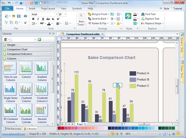 comparison chart template powerpoint