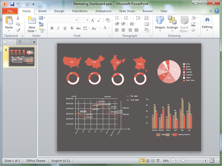 marketing dashboard powerpoint template. Black Bedroom Furniture Sets. Home Design Ideas