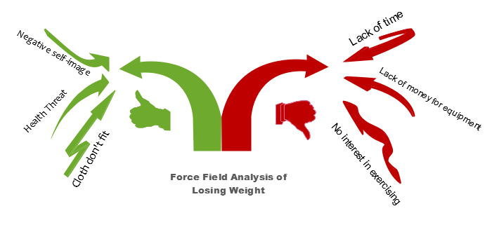 Force Field Analysis for Losing Weight