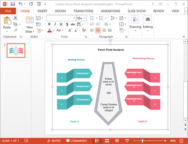 Force Field Analysis Templates For Pdf Word And Powerpoint