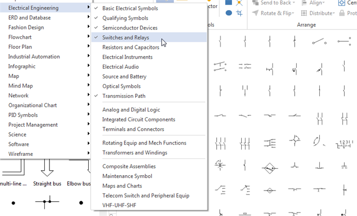 wiring diagram software draw wiring diagrams with built in symbols rh edrawsoft com Wiring- Diagram Home Wiring Symbols
