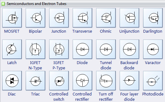 electrical diagram software   create an electrical diagram easilyelectrical diagram symbols   semiconductors