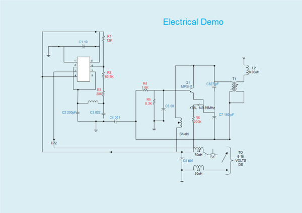 Systems diagram free examples and software download for Electrical as built drawings sample