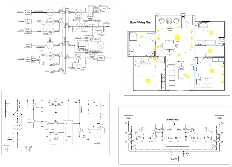 exemples de schéma électrique