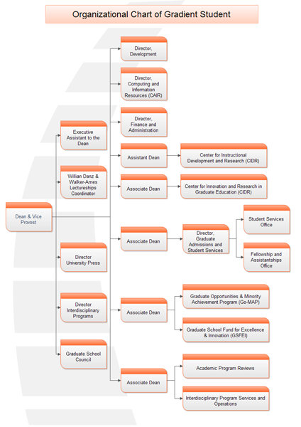 organizational chart of gradient student