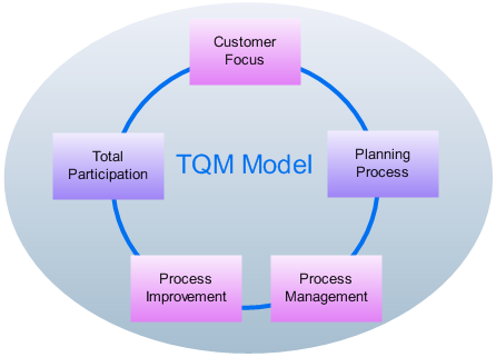 tqm diagram   professional total quality management diagram softwaretqm model diagram