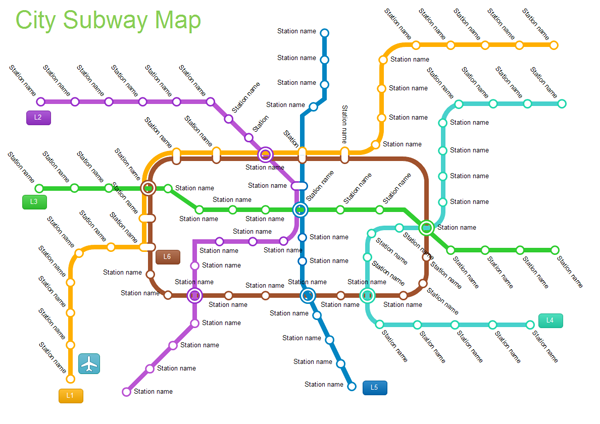 A Subway Map Is A Good Example Of A.Examples City Subway Map