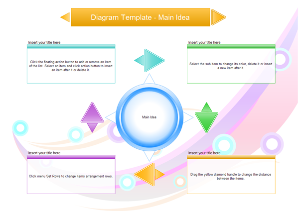 Diagram Template Main Idea