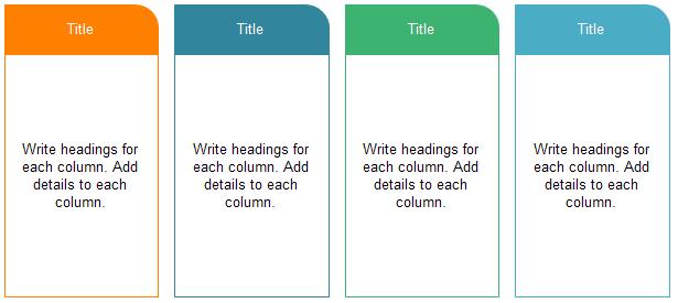 Four Column Chart