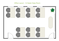 office layout - 14 seats class room