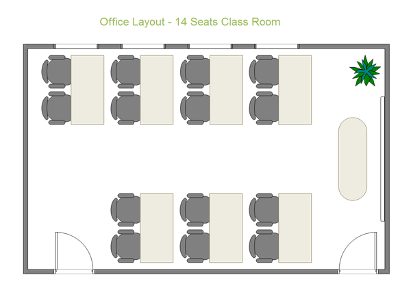 Office Layout 14 Seats Class Room