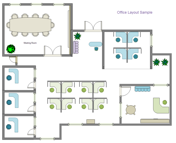 Building plan software edraw for Office layout design