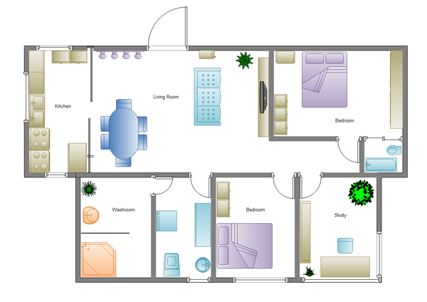 simple home plan example - Plan Of House