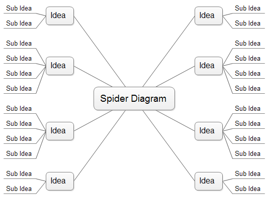 Charming Spider Diagram, Free Templates And Examples Download